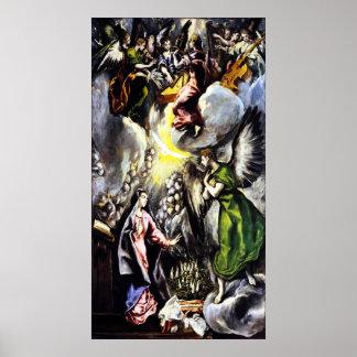 Poster del Virgen María del anuncio de El Greco