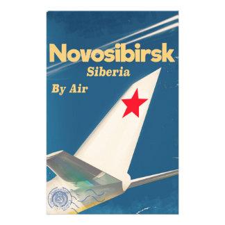 Poster del vuelo de Novosibirsk Siberia Unión Papeleria Personalizada