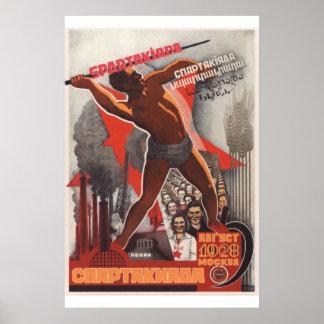 Póster Deporte soviético