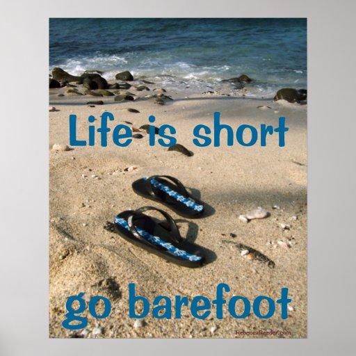 Poster descalzo de la inspiración