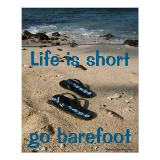 Poster descalzo de la inspiración póster