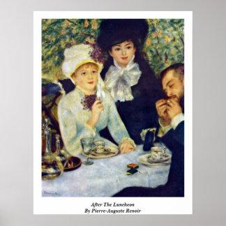 Póster Después del alumerzo de Pierre-Auguste Renoir