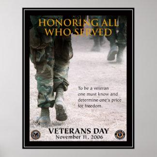 Póster Día de veteranos del vintage, 2006 -