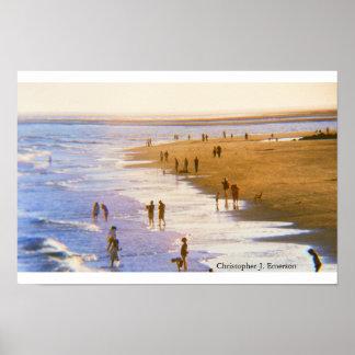 Póster Día en la playa