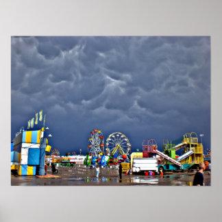 Póster Día tempestuoso en la feria