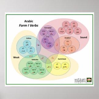 Póster Diagrama árabe de Venn de los verbos de la forma 1