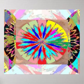 Póster Diamante de la alta energía - flor Chakra