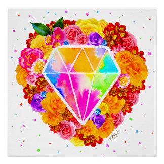 Póster Diamante florecido