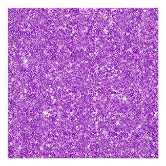 Póster Diamante púrpura del lujo del brillo