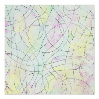 Póster Dibujo abstracto
