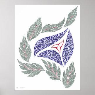Póster Dibujo abstracto de la pluma