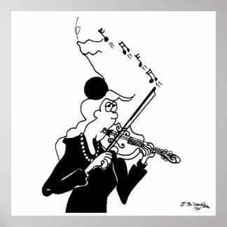 Póster Dibujo animado 2178 del violín