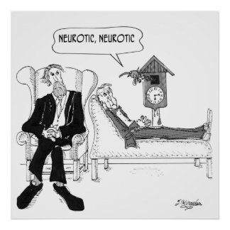 Póster Dibujo animado 2199 del psiquiatra