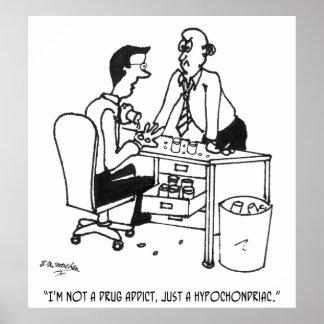 Póster Dibujo animado hipocondriaco 3104