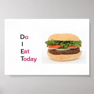 Póster Dieta