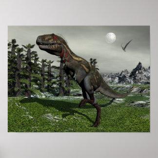 Póster Dinosaurio de Nanotyrannus - 3D rinden