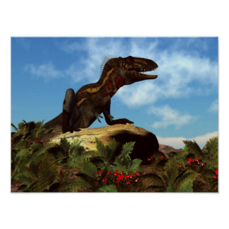 Póster Dinosaurio de Nanotyrannus que descansa - 3D