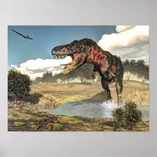 Póster Dinosaurio de Tarbosaurus - 3D rinden