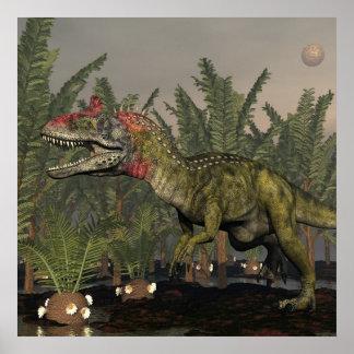 Póster Dinosaurio del Cryolophosaurus - 3D rinden