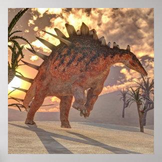 Póster Dinosaurio del Kentrosaurus - 3D rinden