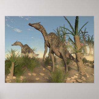 Póster Dinosaurios de Saurolophus - 3D rinden