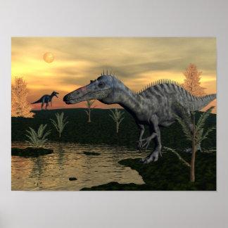 Póster Dinosaurios de Suchomimus - 3D rinden