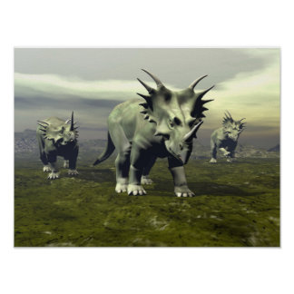 Póster Dinosaurios del Styracosaurus - 3D rinden