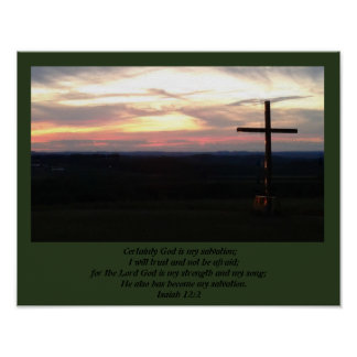 Póster Dios es mi salvación