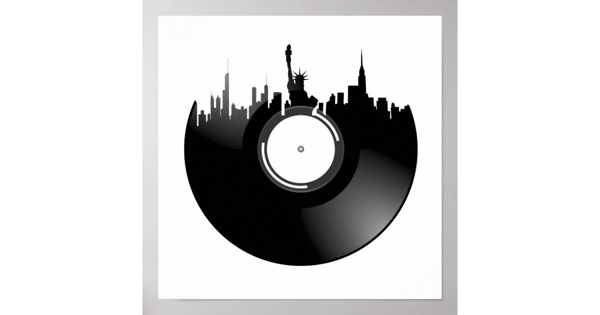 P ster disco de vinilo de new york city - Posters de vinilo ...