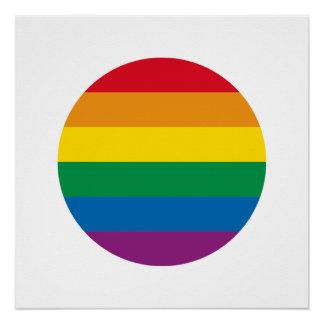 Póster Diseño colorido del arco iris del orgullo el |