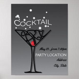Póster Diseño de la invitación del cóctel
