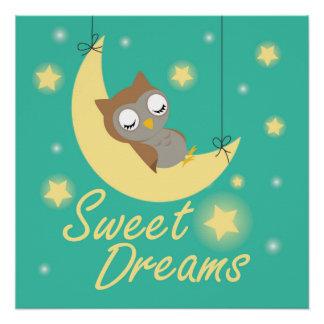 Póster Diseño de los sueños dulces para los niños