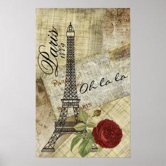 Póster Diseño de París del vintage