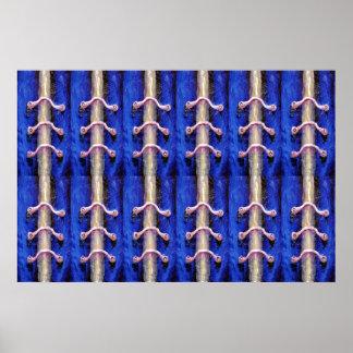 Póster Diseño mínimo industrial del extracto del azul