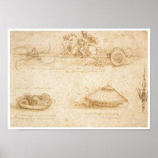 Póster Diseño para un vehículo ligero blindado, Leonardo