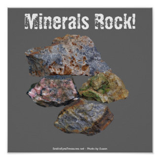 Poster divertido de los colectores de la roca de l