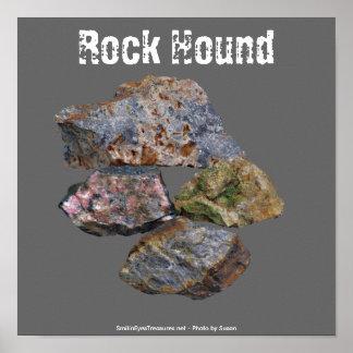 Poster divertido de los colectores minerales del p