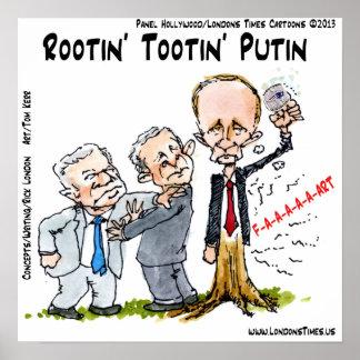 Poster divertido de Vladimir Putin y del anillo