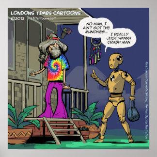 Poster divertido del Hippie de la prueba del despl