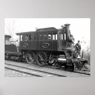 Póster DL+ Locomotora de la inspección del vapor de W