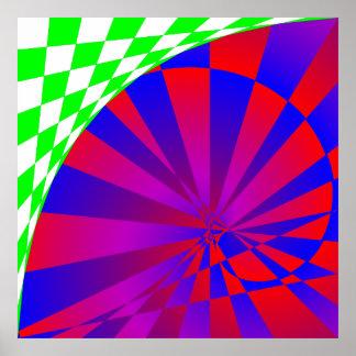 Poster doblado de las dimensiones