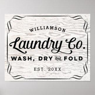 Póster Doblez seco personalizado del lavado del lavadero