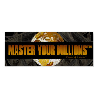 Póster Domine su poster del papel del valor de millones