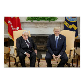 Póster Donald Trump con Henry Kissinger