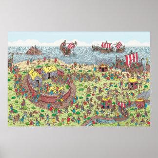 Póster Donde está Waldo el   en viaje con los Vikingos