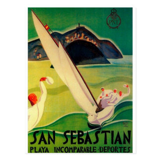Poster Donostia San Sebastián del viaje del Postal