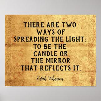 Póster Dos maneras de separar la luz -- Cita inspirada
