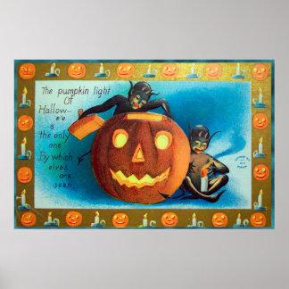 Póster Duendes de Halloween y poster del fiesta del
