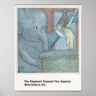 Póster E para el poster del elefante