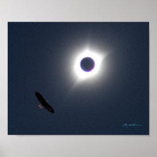 Póster Eclipse 21 de agosto de 2017 americano